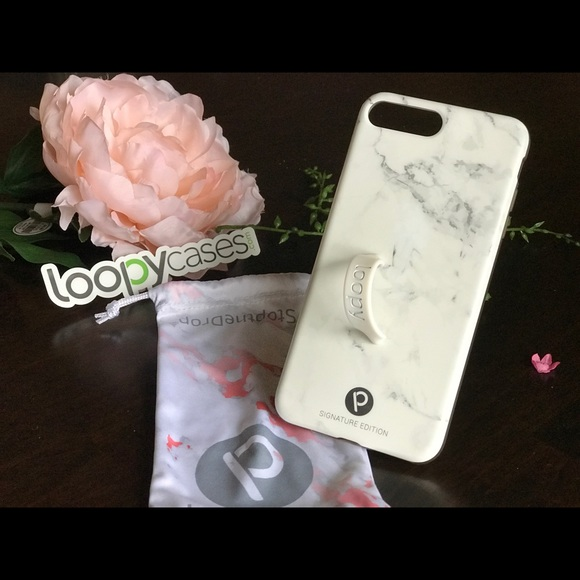 the latest b8519 19a74 Grey Marble Loopy case iPhone7 plus
